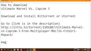 How to download Ultimate Marvel Vs. Capcom 3