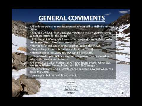 PCT Sierra Live Webinar (Tuesday, March 21st @ 7PM Pacific Time)
