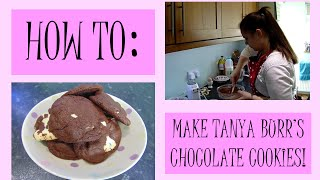How To Make Tanya Burr's Chocolate Cookies! | Kate Does Bakey