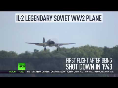 'Flying tank': IL-2 legendary WW2 plane resurrected from lake takes flight at MAKS 2017 Air Show