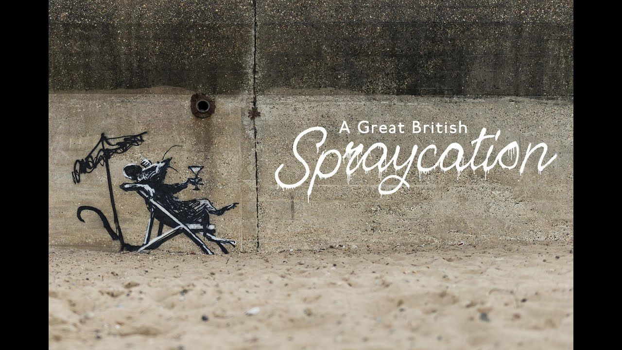 Banksy's Great British Spraycation: The Artist Spray Paints England's Favorite Summer-Holiday Destinations