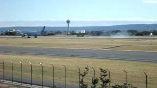 China Southern Airlines A330 landing at Perth Airport