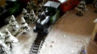 Train In Coffee Table Winter Landscape