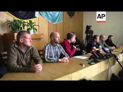 European military observers detained in Ukraine say they are not being mistreated