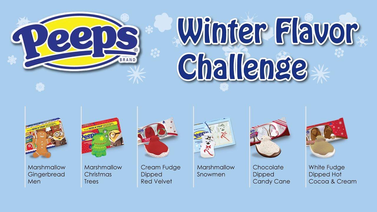 Winter Peeps Challenge 6 New Flavors Youtube