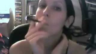 SmokeGirl Vixen Clove Cigarette Smoking