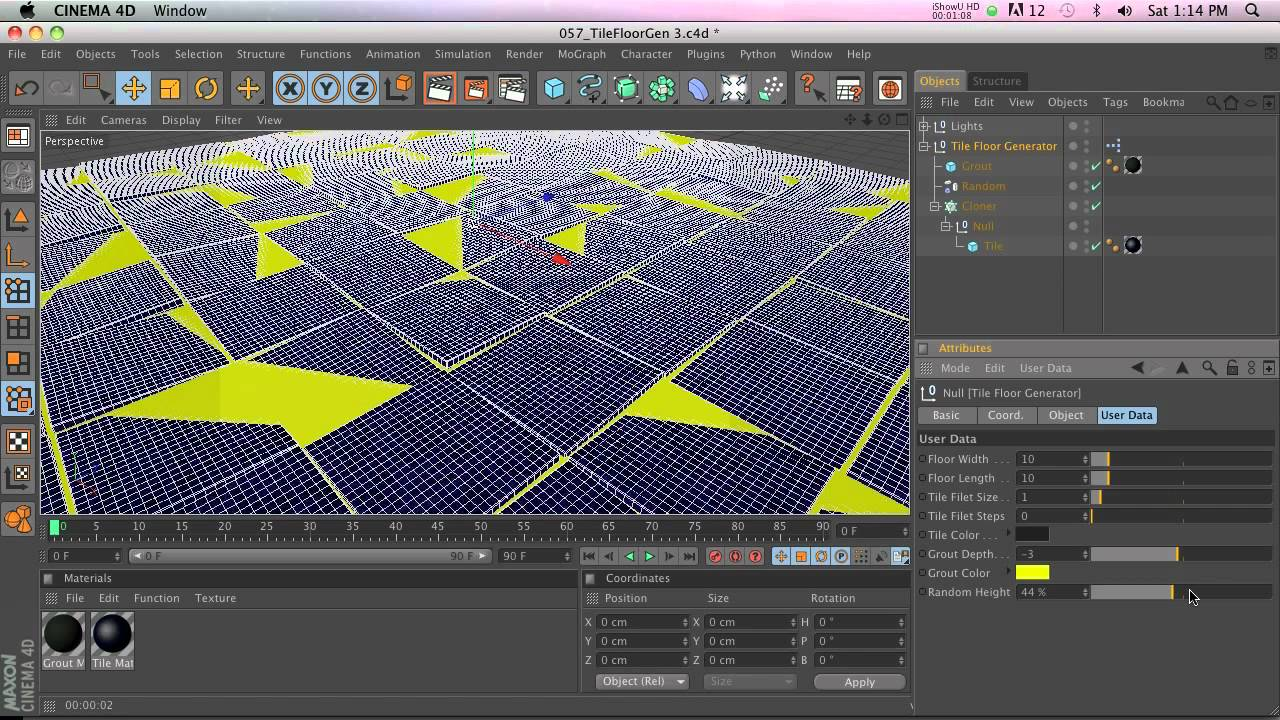 C4D Preset: Tile Floor Generator - YouTube
