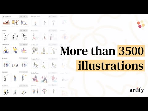 A great library of incredible illustrations.