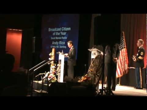 Andy Rice - 2009 Colorado Broadcasters Association small market Broadcast Citizen of the Year