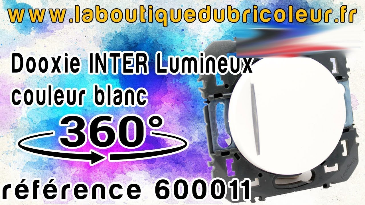 Legrand Dooxie Interrupteur Avec Voyant Lumineux Finition Blanc Ref 600011 Youtube