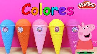 Aprender los Colores para niños con Sorpresas de Peppa Pig en español | Juguetes de Peppa Pig