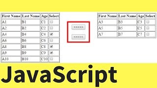 javaScript - How To Transfer Rows Between Two HTML Table In Javascript  with source code