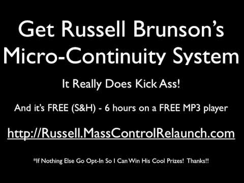 Russell Brunson - Micro Continuity System - Internet Marketing At It's Best!