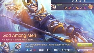 Mobile Legends - Yun Zhao 30 KILLS!!! | Building Deck