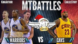 cavs vs warriors finals rematch lebron and kyrie exposing again nba2k17 mtbattles