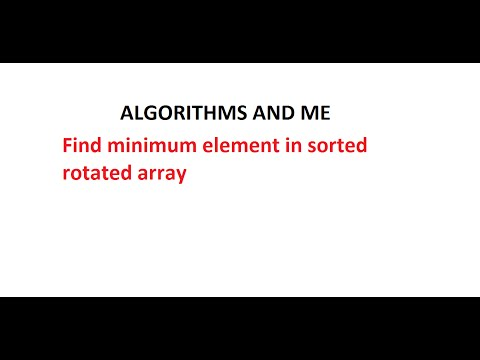 Minimum element in sorted rotated array