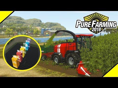 НЕЛЕГАЛЬНАЯ УБОРКА КОНОПЛИ и ЗАПУСК ДРОНА в Pure Farming 2018