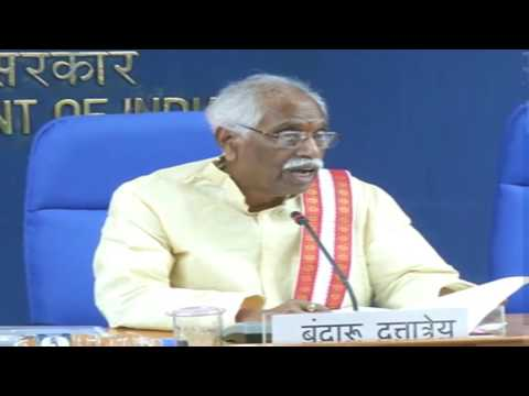 MoS Labour minister Bandaru Dattatreya's interaction with media on Two year achievements