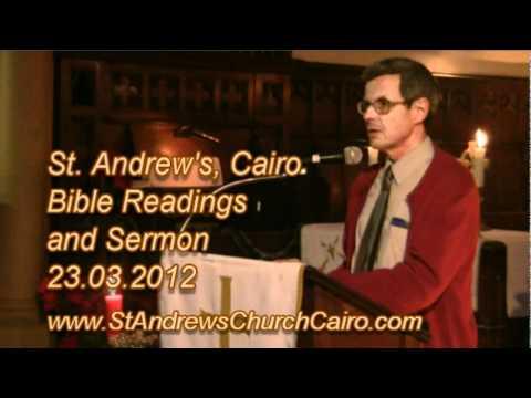 St. Andrew's, Cairo - Sermon 23.03.2012
