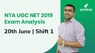 UGC NET Exam Analysis 2019 (20th June, 1st Shift): Questions asked & Difficult Level
