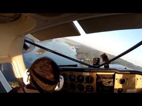 Takeoff from Kilen and flight to Holmsbu