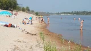 Это КАПЕЦ - Припять можно перейти! )) Городской пляж Мозыря. 2016