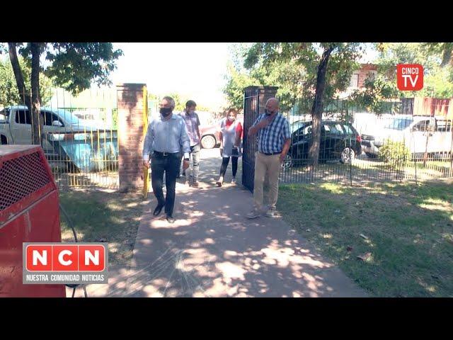 CINCO TV - Julio Zamora supervisó obras en escuelas de Tigre