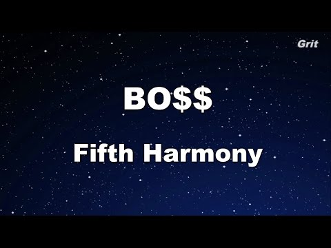 BO$$ - Fifth Harmony Karaoke 【With Guide Melody】Instrumental