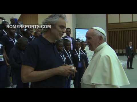 Pope Francis responds to Andrea Bocelli