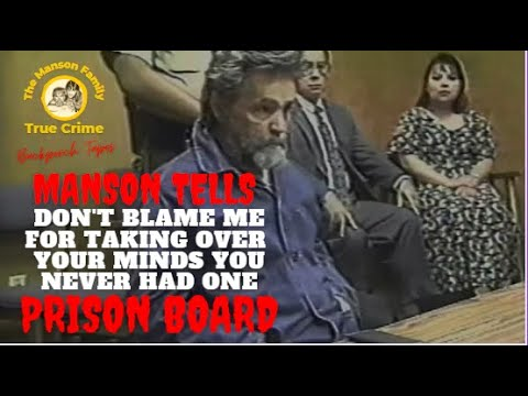 1997 Charles Manson Parole Hearing 1 hour transferred from VHS tape