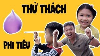 #Vlogs1 Bố Con | THỬ THÁCH PHI TIÊU UỐNG COCA