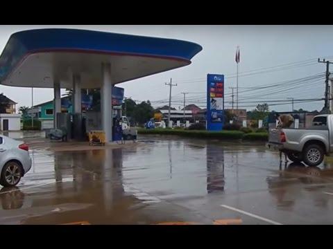 ปั้มน้ำมัน ปตท.ใน สปป.ลาว ก็มีด้วย Petrol PTT in Laos.