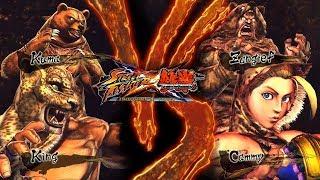 COSPLAY BATTLE - King/Kuma VS Cammy/Zangief - Street Fighter X Tekken (SALE MAL)