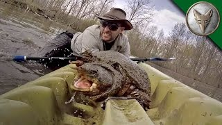 WOW! Intense Snapping Turtle Catch!