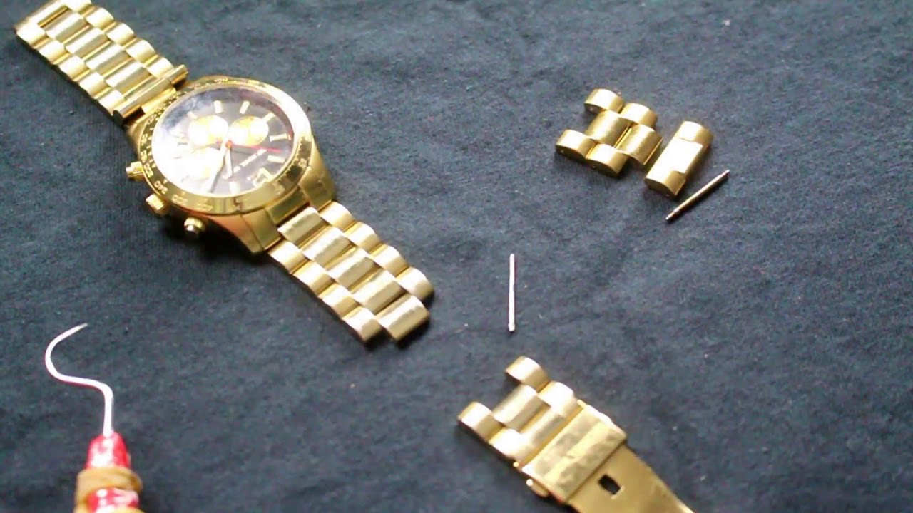 b75401ff9347 michael kors watch band removal review - YouTube