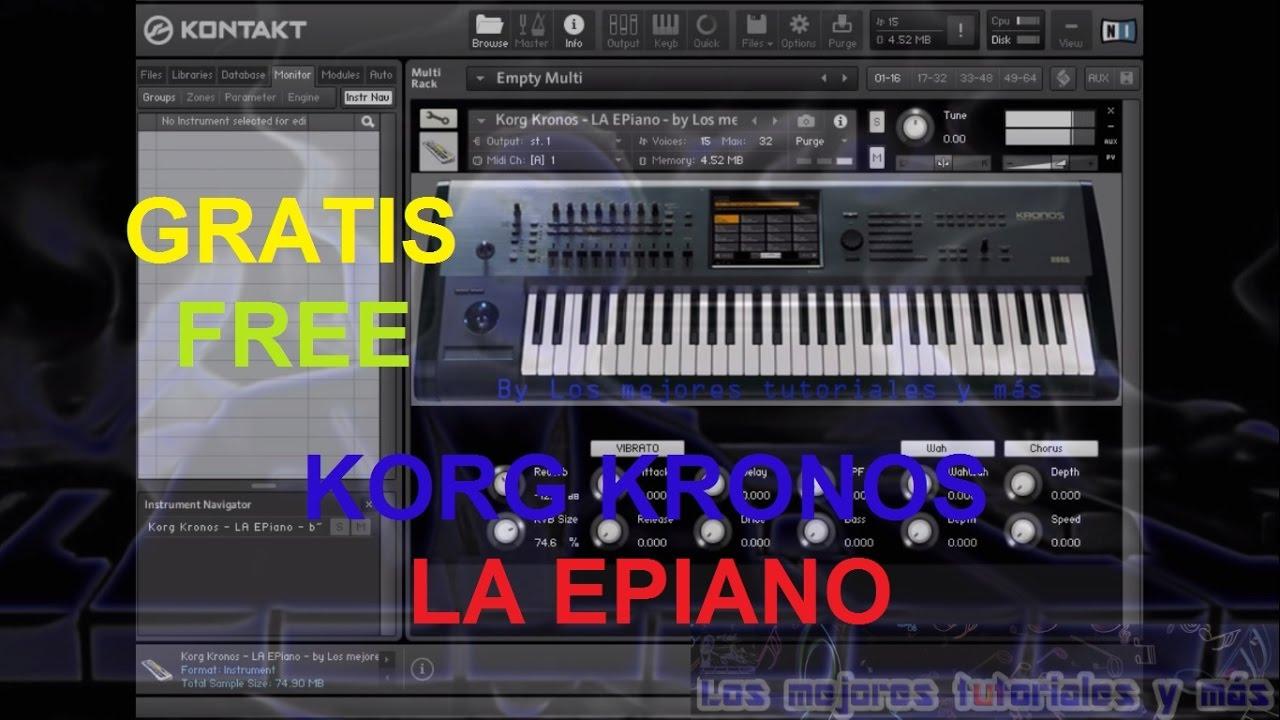 Samples Kontakt 5 - KORG KRONOS - LA EPIANO - Gratis/Free - LOS MEJORES  PIANOS KONTAKT 5