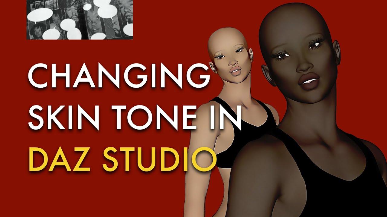 Changing Skin Tone in DAZ Studio