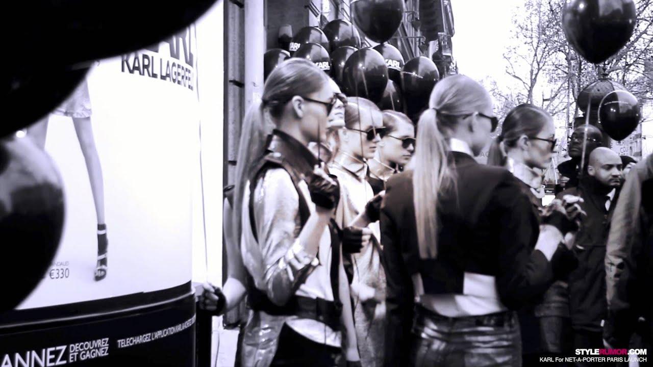 918f46f386fd Karl Lagerfeld for Net-A-Porter Paris Launch