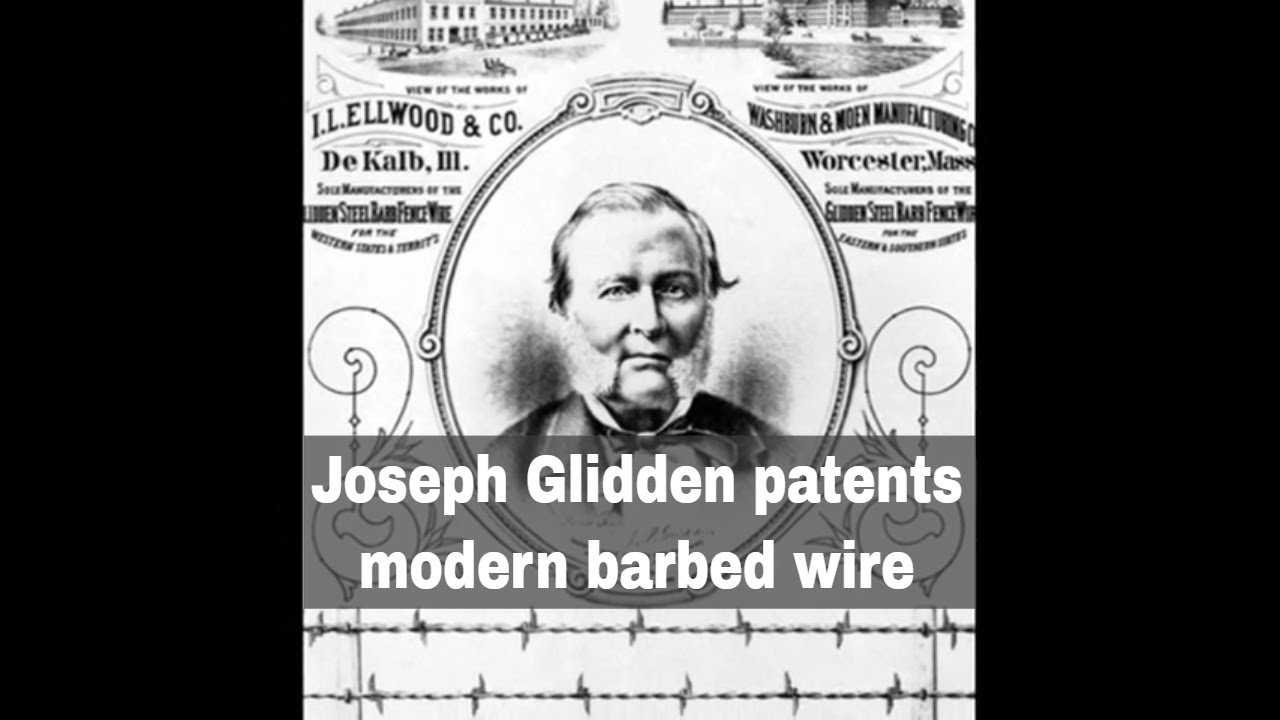Th november joseph glidden awarded a patent for