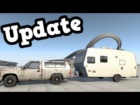 BeamNG Drive Update 0.8 - Caravan Suspension Test