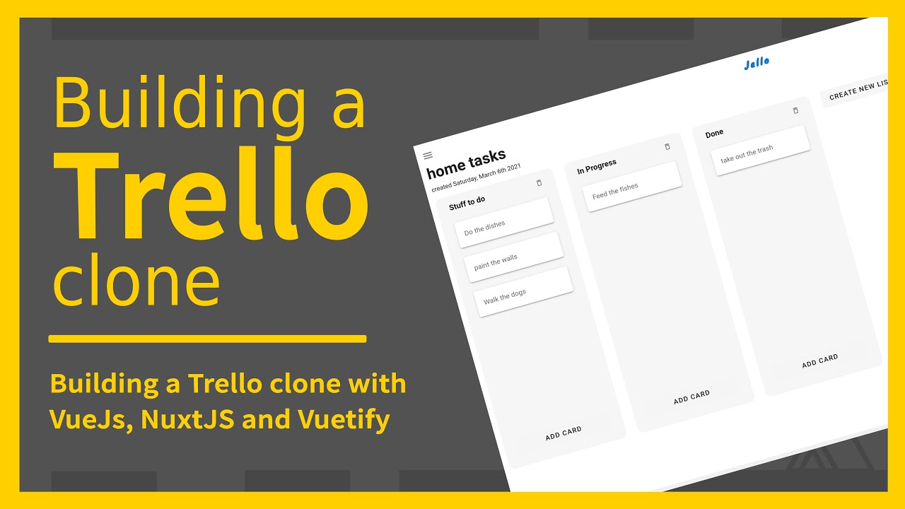 Building a Trello clone with VueJS, Nuxtjs and Vuetify