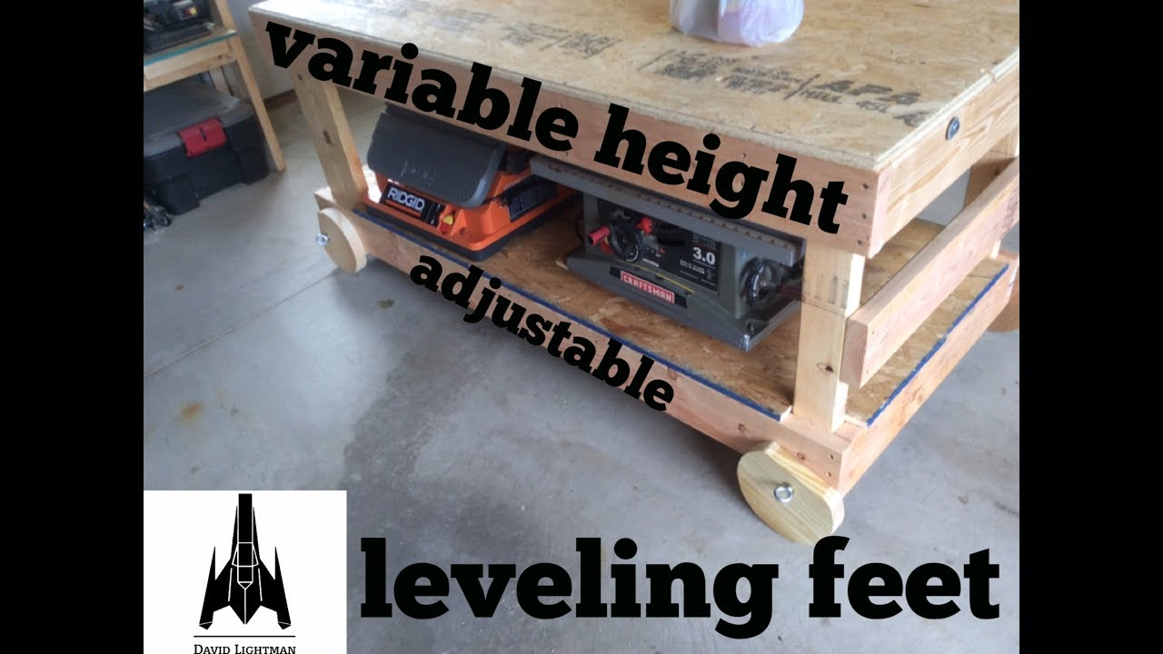 Variable Height Adjustable Workbench Leveling Feet Youtube