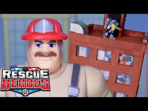 Rescue Heroes™ - The Leaning Tower! | Kids Heroes | Fisher-Price | Stop-Motion | Toy Play
