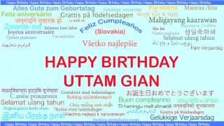 UttamGian   Languages Idiomas - Happy Birthday