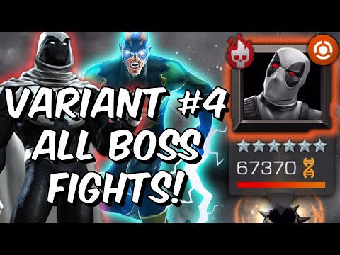 Variant 4 All Boss Fights! - Electro, Deadpool, Moon-Knight & More!! - Marvel Contest Of Champions