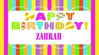 Zahrah   Wishes & Mensajes - Happy Birthday