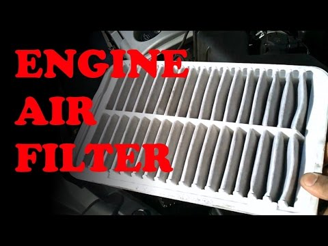 how to replace 2011 toyota camry engine air filter elem doovi. Black Bedroom Furniture Sets. Home Design Ideas