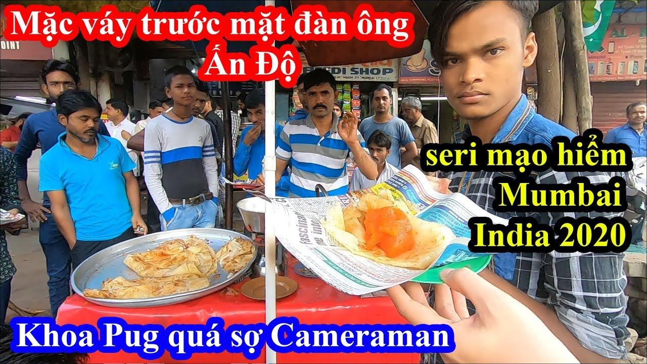 Liều Mạng Ăn Sáng Trong Khu Ổ Chuột Mumbai Ấn Độ – Khoa Pug Quá Sợ Cameraman – Food Tour India 2020