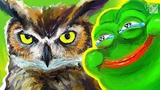 РИСУЕМ С ГАГАТУНОМ #2 - Сова и Pepe the Frog