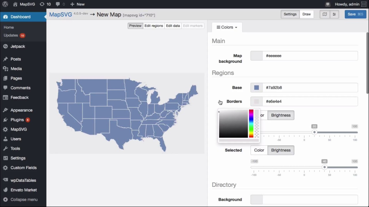 MapSVG: add an interactive map of USA to your website with MapSVG ...